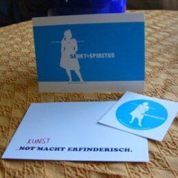 Postkarten und Aufkleber